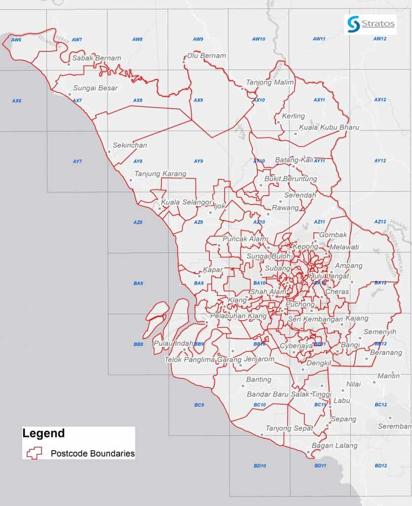 Rich results on Google's SERP when searching for 'Digital Maps Klang Valley Postcode'